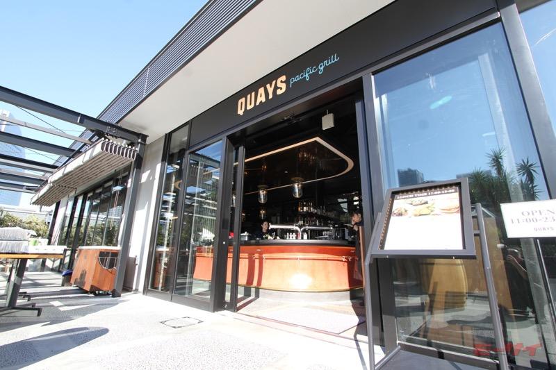 会場となった横浜ハンマーヘッド内のレストラン「キーズ パシフィック グリル」。