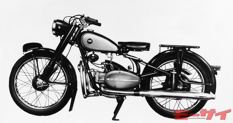 トヨモーターTB(1955)。市場からの要望を反映し、リヤにプランジャーサスを備えたモデル。エンジンはT8型がベース。
