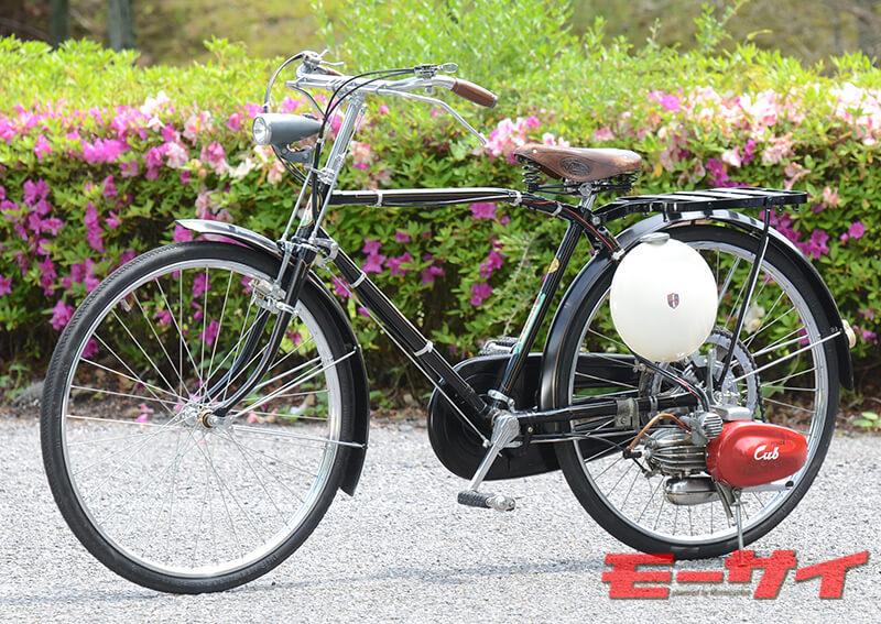 1952年 カブF(2スト50cc単気筒)