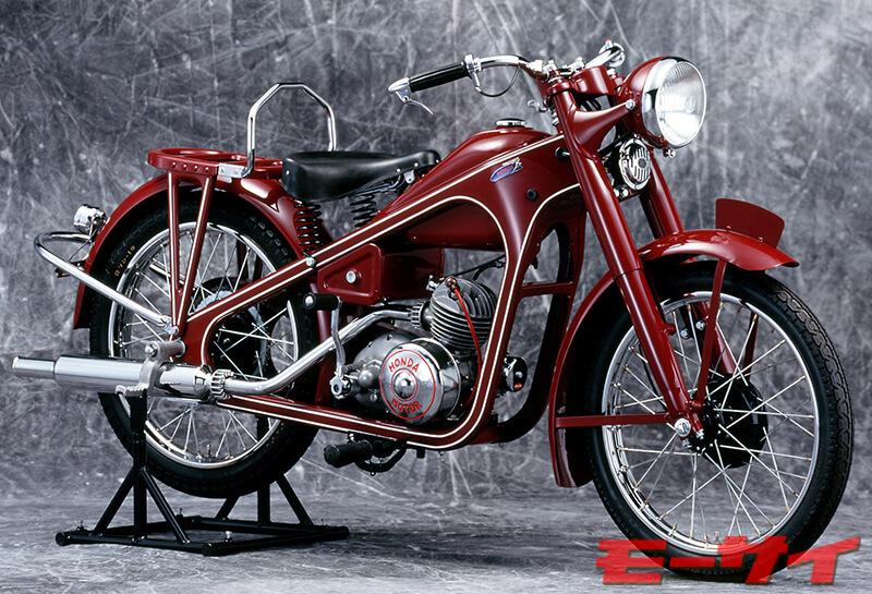 1949年 ドリームD(2スト98cc単気筒)