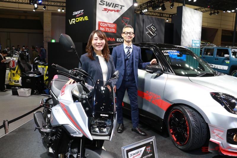 スズキ四輪デザイン部の宮澤貴司さん(右)同じく、スズキ四輪デザイン部の浅倉 恵さん